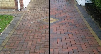 Block Paving Driveway Before and After