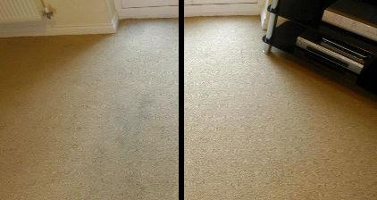 Carpet Cleaning the Living Room